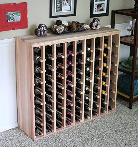 Creekside 72 Bottle Premium Table Wine Rack Redwood