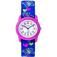 Timex Boys tiempo máquinas analógico correa de tela elástica reloj, Blue/Monsters