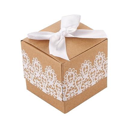 Confeccionar pequeñas Kraft papel, cajas para dulces decorativos presente, galletas, caramelos, velas