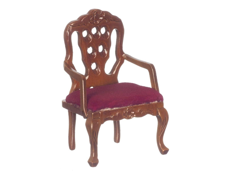熱い販売 Dolls House Miniature Miniature Lounge Furniture House Walnut Lounge Victorian Carvedback Salon Chair B01BFD15J0, コウヤギチョウ:50cf55a3 --- diceanalytics.pk