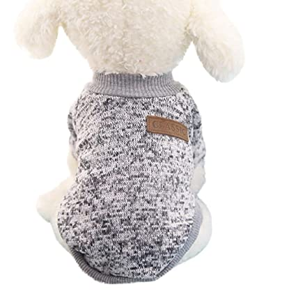97980636a677 Classic Pet Sweaters! AMA(TM) Pet Doggie Small Dog Cat Winter Warm Fleece