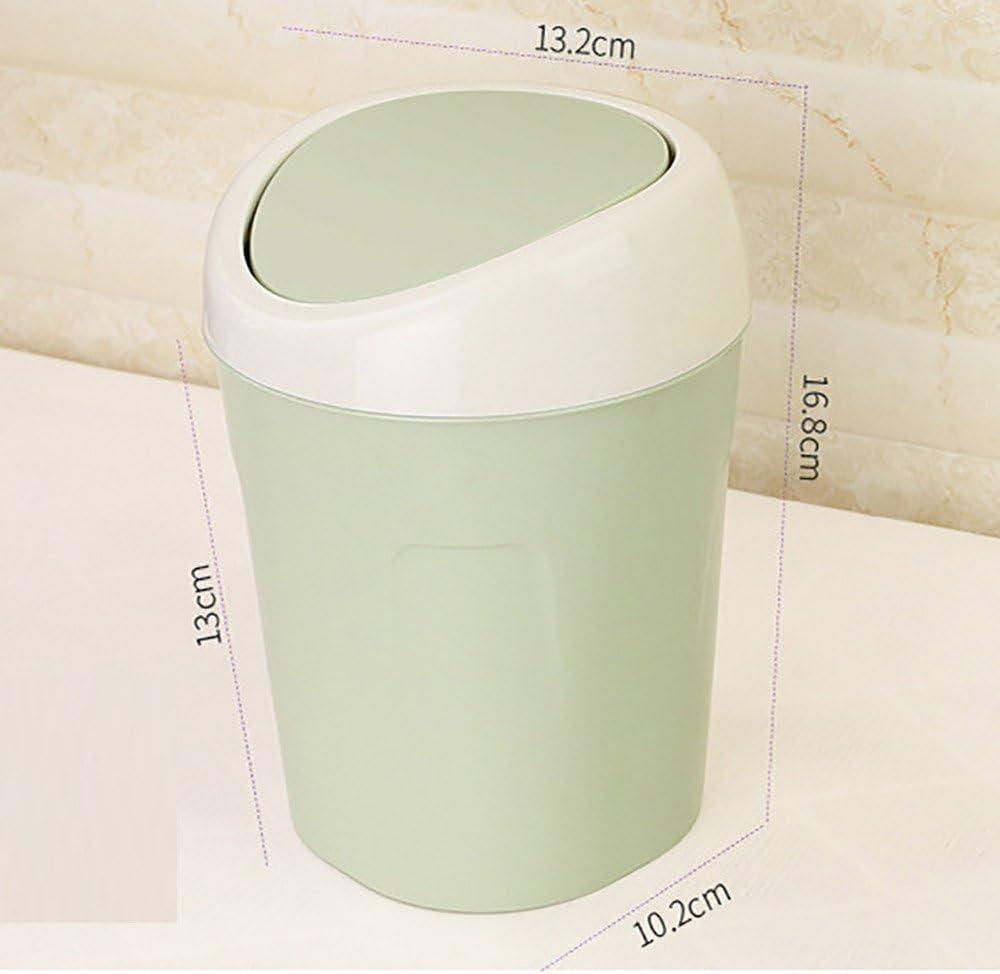 16.8 cm x 10.2 cm x 13.2 cm Abfalleimer Flip Bin,Mini Gr/ün BJJH M/ülleimer Plastik