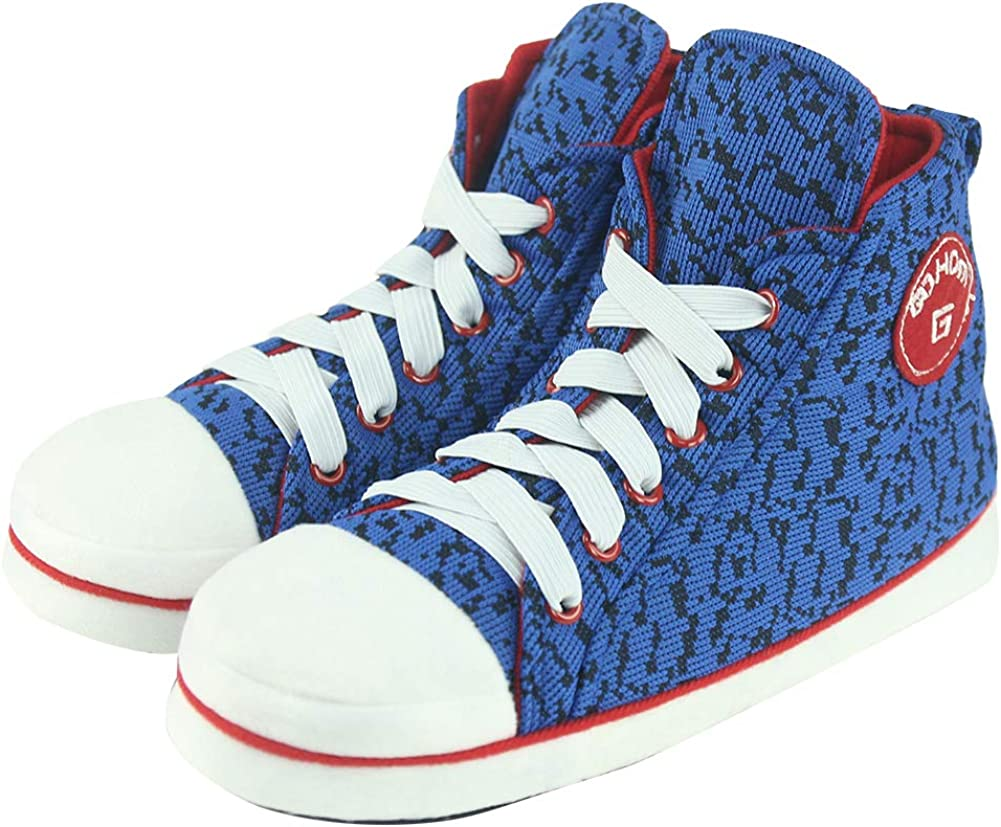 Gohom Mens High-top Slippers House Boots Indoor Shoes
