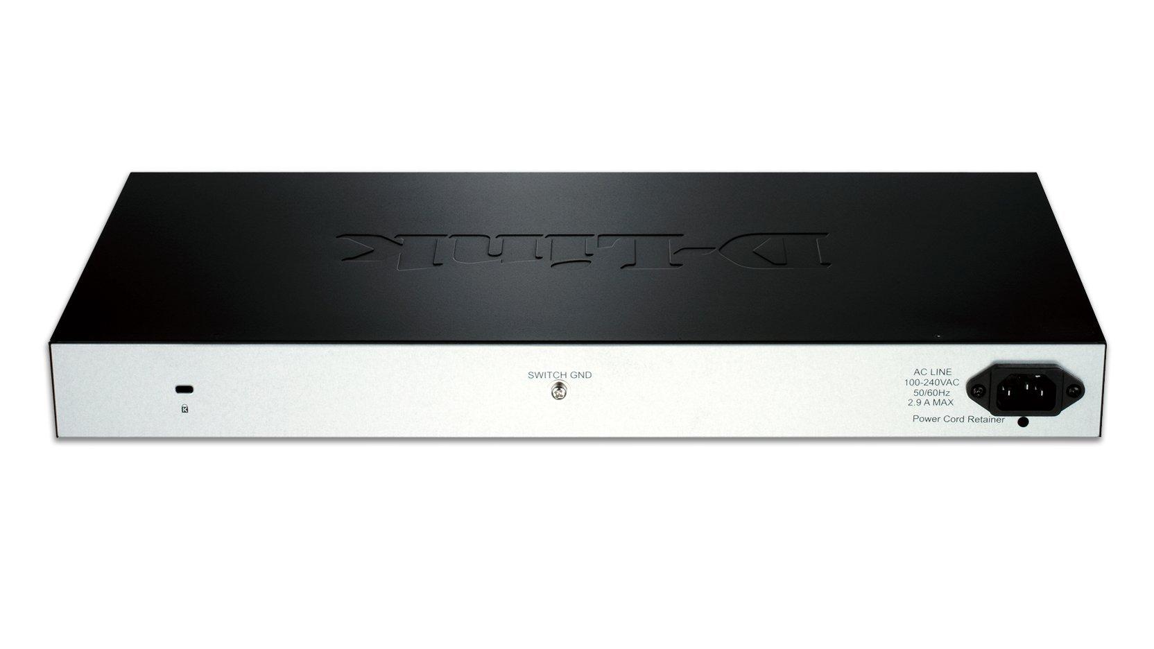 D-Link 28-Port Fast Ethernet WebSmart PoE+ Switch including 2 Gigabit BASE-T and 2 Gigabit Combo BASE-T/SFP Ports (DES-1210-28P) by D-Link (Image #1)