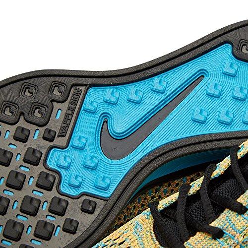 Unisex Flyknit Racer zapatillas de running BRIGHT CITRUS/BLACK-BLUE LAGOON