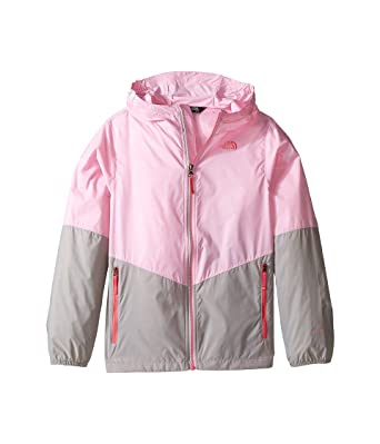 a73b7844b60b Amazon.com  The North Face Girl s Flurry Wind Hooded Jacket (X-Small ...