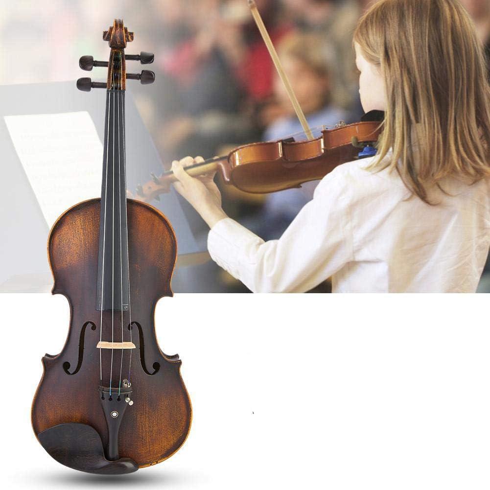 Nannday Violín de Madera 4/4, Instrumento Musical de violín acústico Retro Vintage con Cuerda, Mudo, colofonia, Arco, Accesorios de Soporte para el Hombro: Amazon.es: Hogar