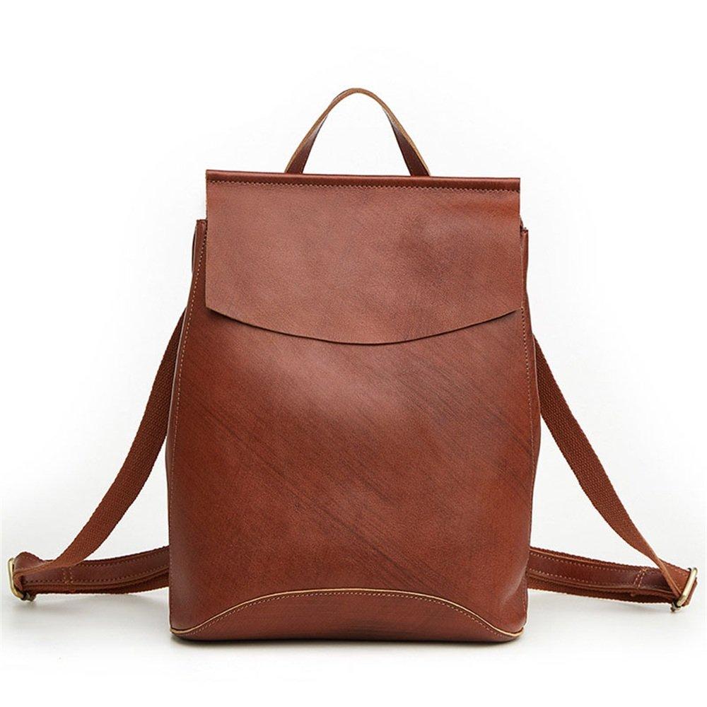 ヴィンテージWomen 'sバックパック本革Daypack防水ジッパー旅行ショッピング B07FFGSS7S
