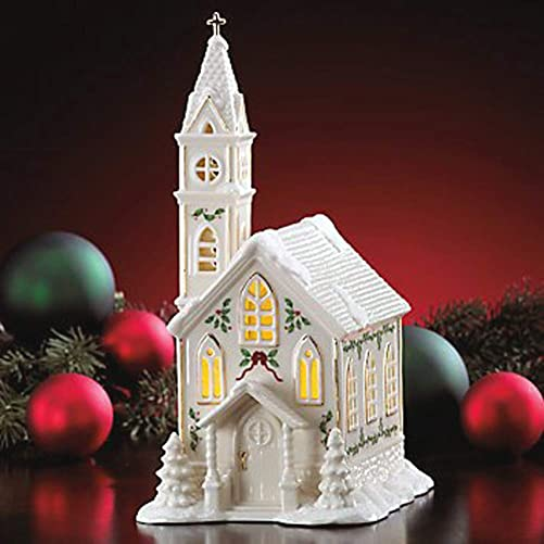 Lenox Light-Up Village Church Figurine, 1.90 LB, Multi