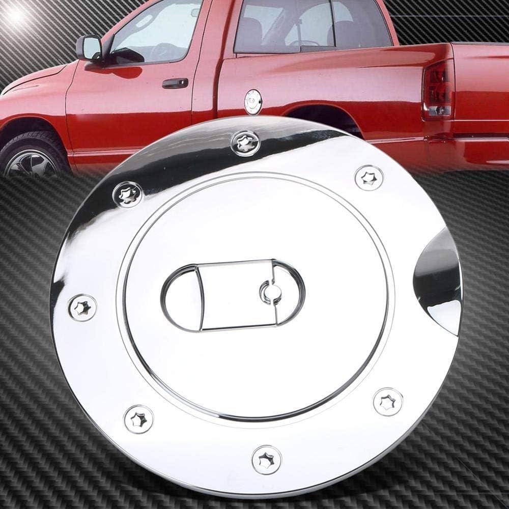 Denkqi Cap Porte gaz Chrome du r/éservoir de Carburant Couverture//Fit for Dodge Ram 1500 2500 3500 2009-2017 Voiture-Style