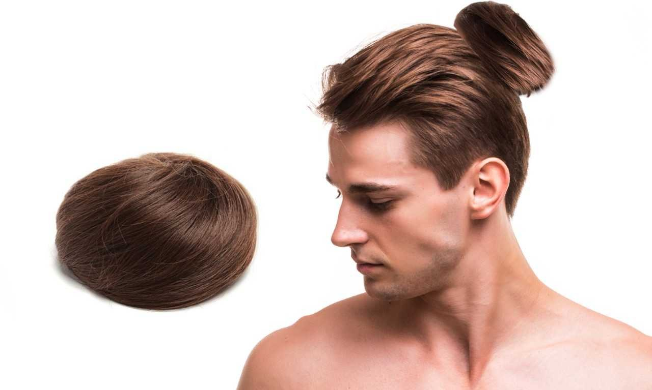 Man Bun - The Original Clip On Man Bun (TM) (Brown)