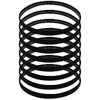 DS. DISTINCTIVE STYLE Sport Headbands Set of 8 Elastic Thin Sweatband Non Slip Hair Band for Yoga Running - Black