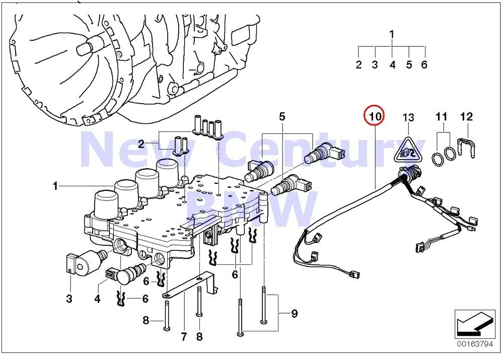 transmission wiring harness diagram amazon com bmw genuine automatic transmission wiring harness with  automatic transmission wiring harness