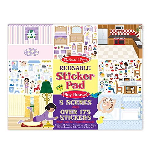School Play Sticker (Melissa & Doug Play House! Reusable Sticker Pad)