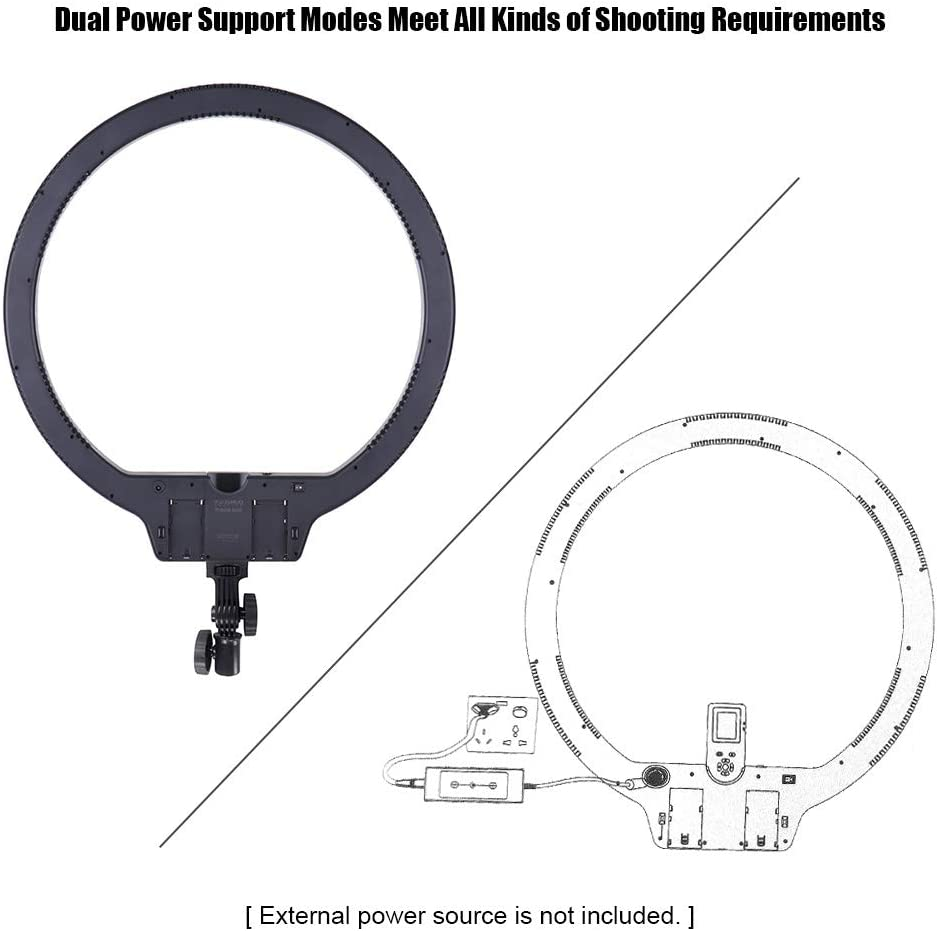 ROWEQPP YN608 RGB LED Video Light Photography Video Ring Light for Live Video Selfie UK Plug