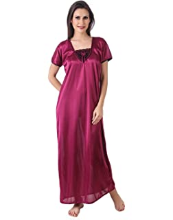 7f6801e99e ... Masha Womens Satin Nightdress (Free Size) big sale 0a342 5b1e4   Transparent ...