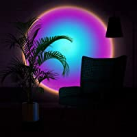 Sixology Sunset Table Lamp Rainbow Projection Lamp LED Light Projector Sun Floor Lamp for Living Room Bedroom Background…