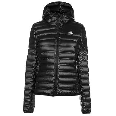 b8a821f8 Adidas Varilite Down Jacket Womens Coats Outerwear Black UK 8-10 (Small)