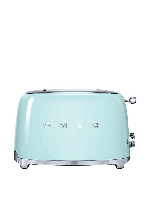 SMEG Tostador TSF02PGEU, 1500 W, Acero Inoxidable, 4 Ranuras, Verde Pastel