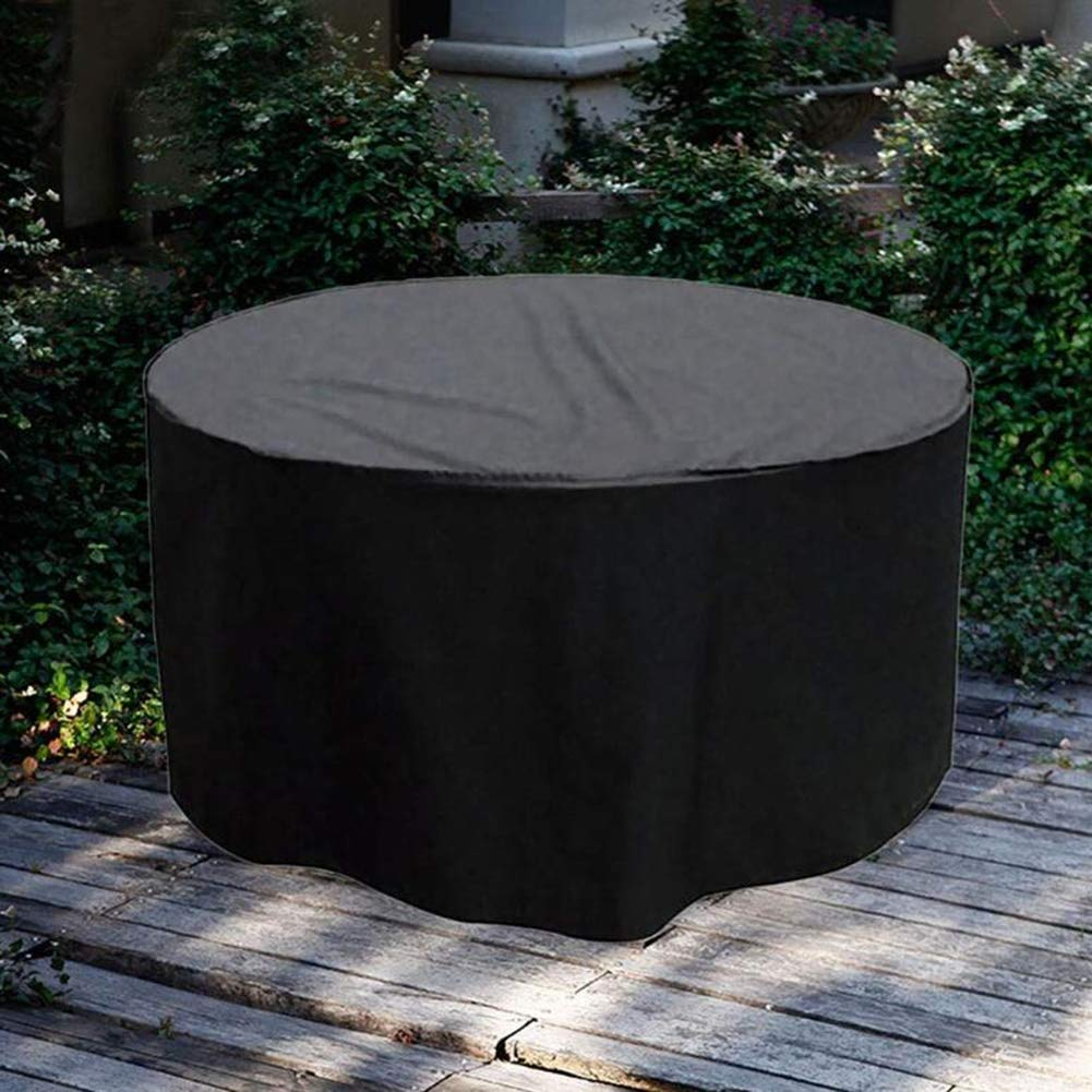 ZWYSL Rattan Garden Furniture Covers Dust//sun Protection Protective Tarpaulin Waterproof Patio Round Table And Chairs Color : Black, Size : 60x60cm Custom Size