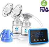 Breast Pump,Bellababy Dual Suction Electric Breastfeeding Pump Breast Massage with Full Touchscreen LED Display(with 10 Pcs Breastmilk Storage Bags)