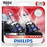 Philips 9004 X-tremeVision Upgrade Headlight Bulb, 2 Pack