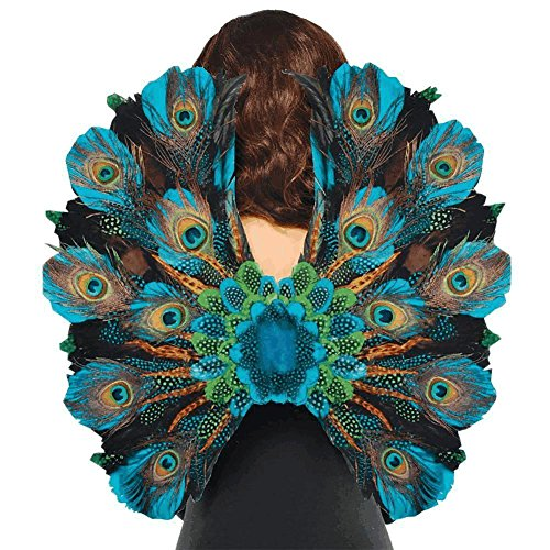 AMSCAN Peacock Feather Wings Halloween Costume Accessories