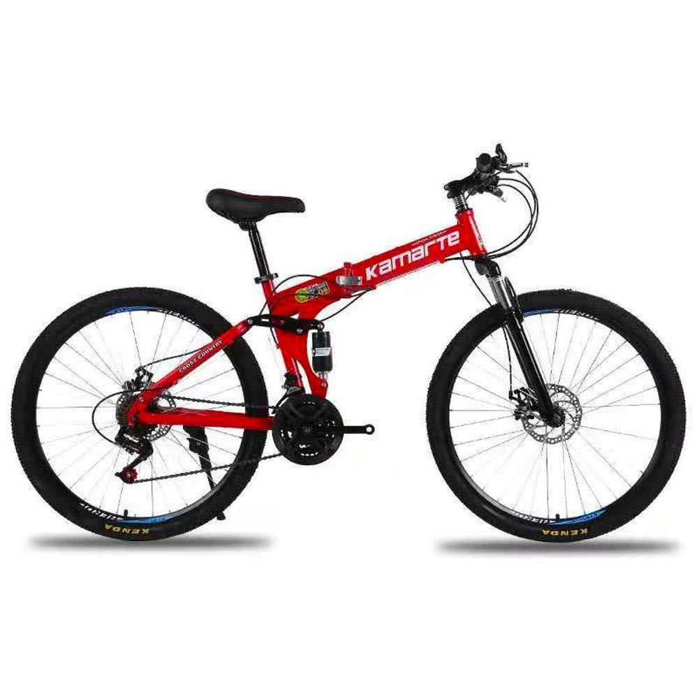 【ギフト】 折り畳み自転車 高炭素鋼 24インチ 高炭素鋼 21段変速 大人シングルスピードショックアブソーバ 男女兼用 折り畳み自転車 レッド レッド B07PZXTMM3, ARTINN Golf Design:87fc8b89 --- senas.4x4.lt
