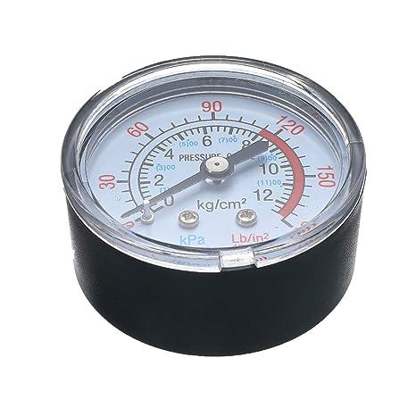 Voraca 1/4 BSP - Manómetro de presión de Aire para compresor de Aire