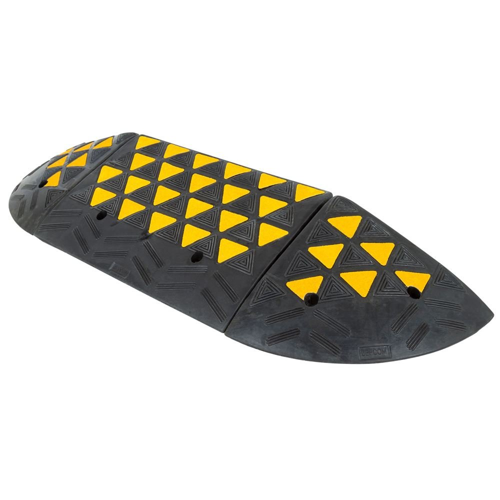 Guardian 6'' Rubber Curb Ramp with Round End Caps