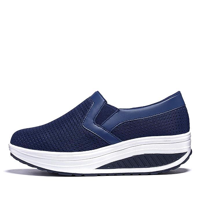buy popular 4148f 3d3b1 XMeden - Zapatillas para mujer, color azul, talla 38