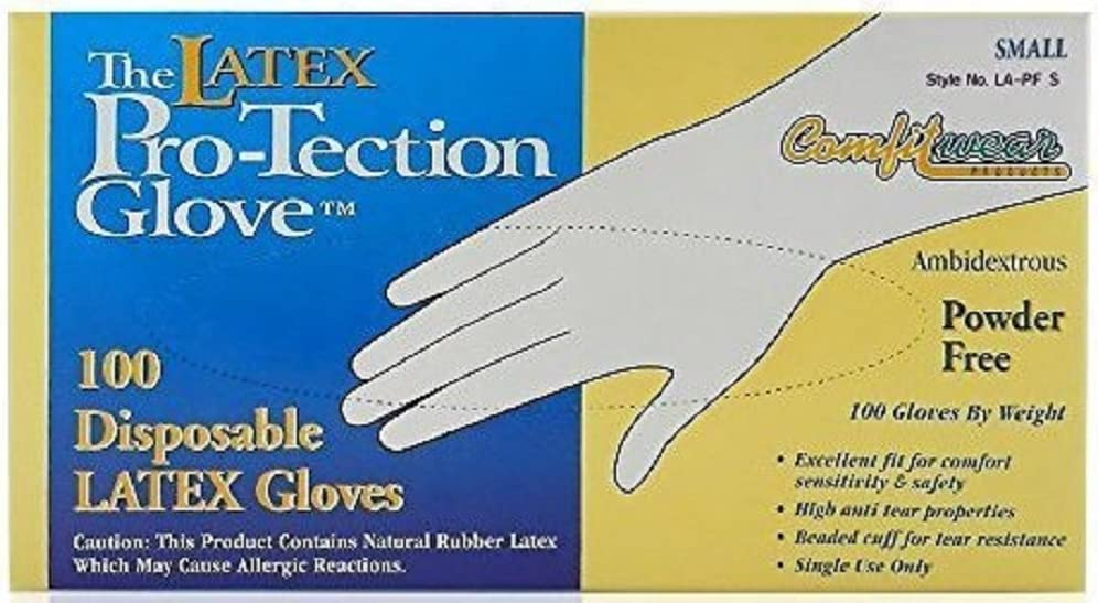 Gloves Latex Free Powder Free,Disposable,Shipped from The US and Arrived in 7-10 Days Case of 100 Color:White; Size:S