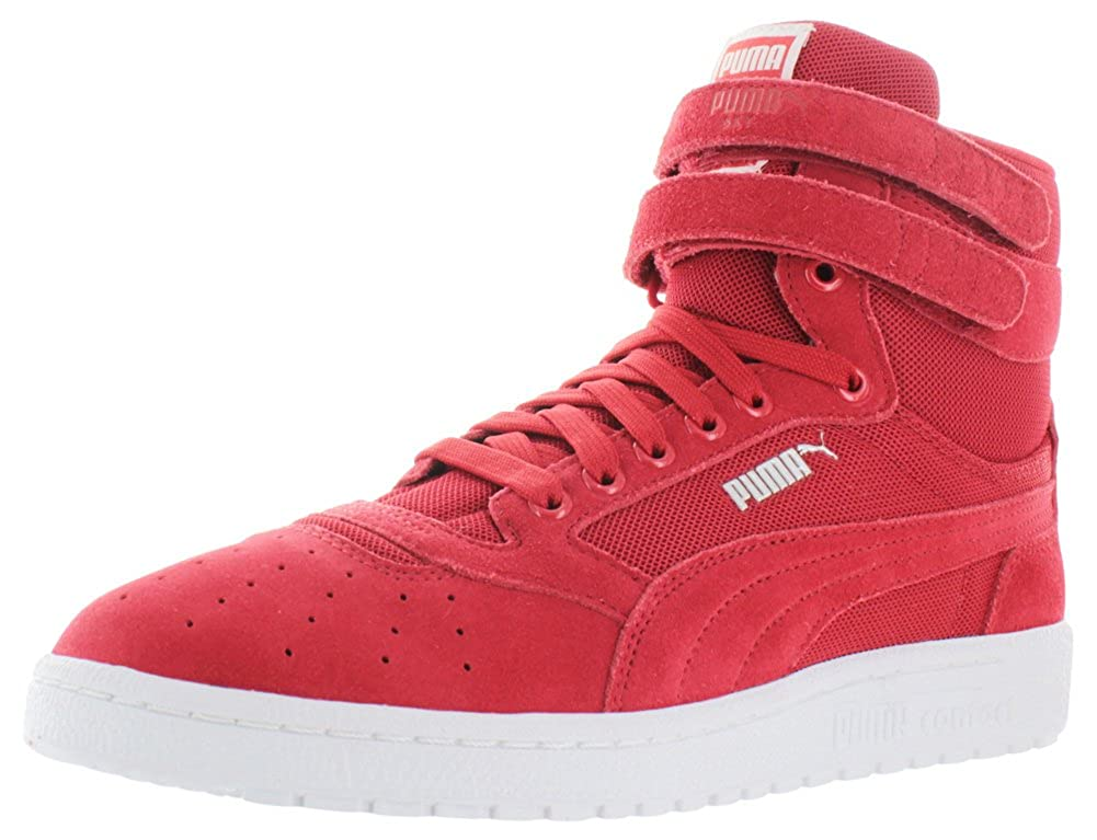puma red high top sneakers