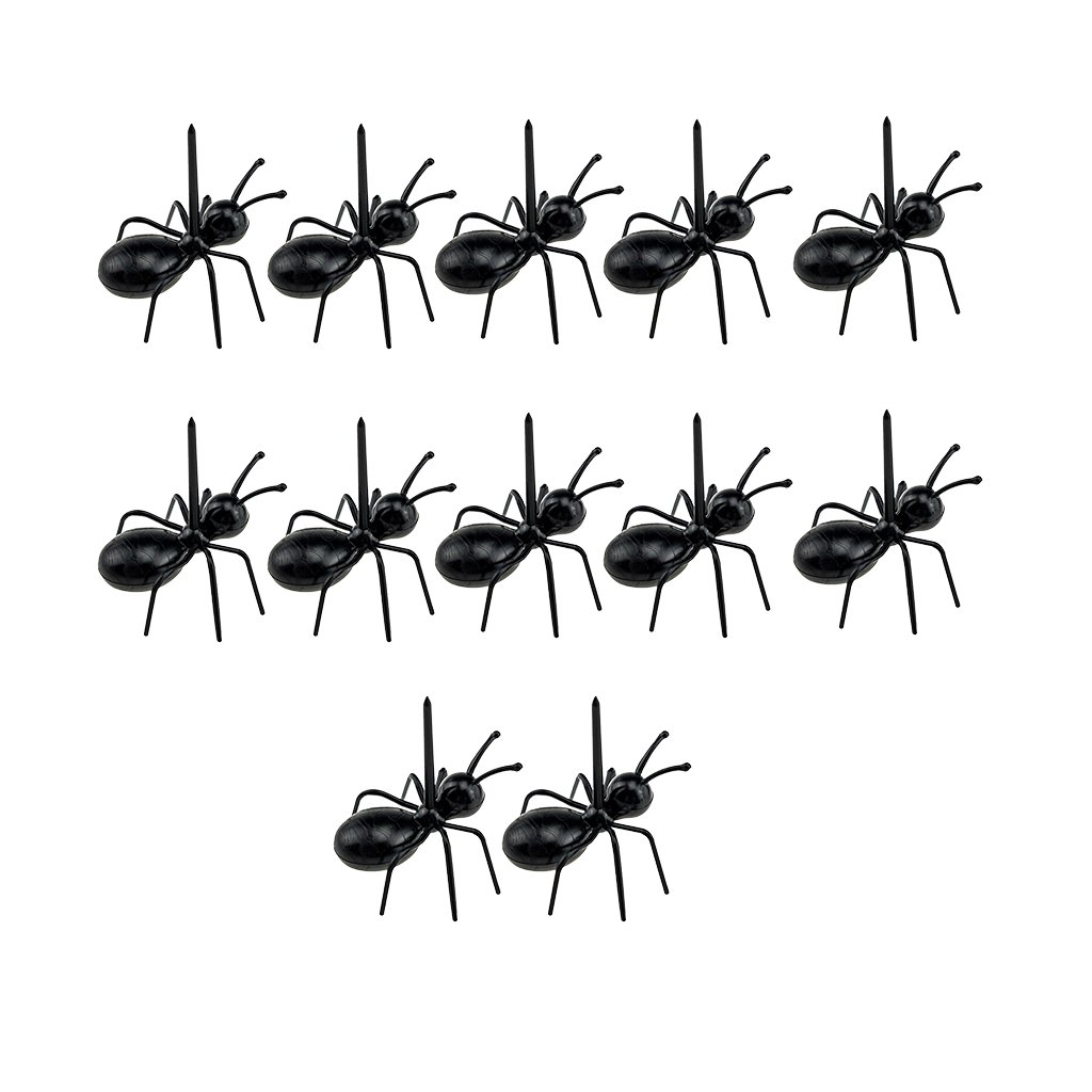 KESOTO 12PCS Reusable Ants Fruit Forks Sticks Cocktail Picks Party Service Supplies