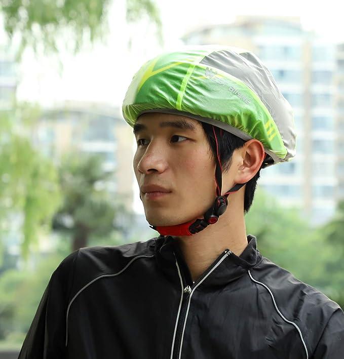 Reflective Bicycle Helmet Cover Waterproof Windproof Rain Cover MTB Bike Accesso