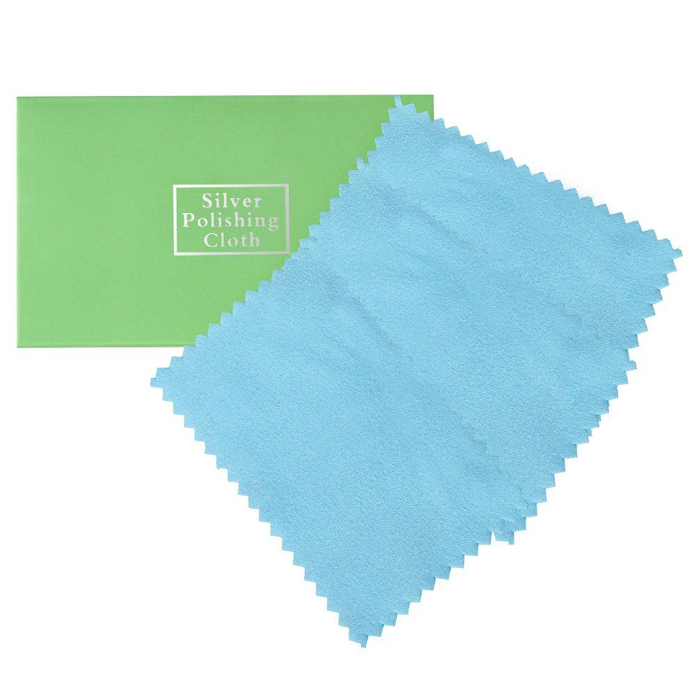 Zacro Silver Polishing Cloth - 3 Packs - Anti-Tarnish Sterling Cleaning Cloth