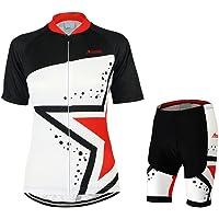 GWELL - Equipación de ciclismo para mujer, camiseta