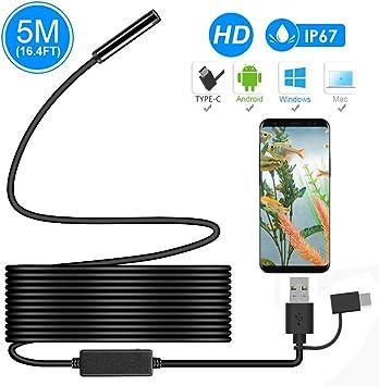 Endoskop Mit 7 Mm Flexiblem Kabel Für Android-Smartphone-PC