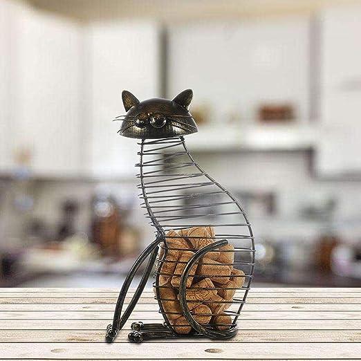 Compra Depruies Wine Cork Holder - Barril de Vino Decorativo con Forma de Gato Elegante para Amantes de los Gatos y el Vino, Ideal para los Tapones de Vino de Todos los
