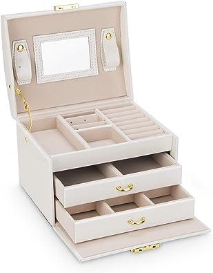 Caja Joyero, Joyero de Viaje Cajas para Joyas3 Niveles Jewelry ...