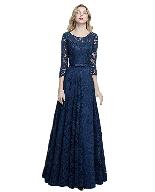 444c519e9d4c1 nymph Womens 3/4 Sleeves A-line Lace Dress Evening Formal Party: Amazon