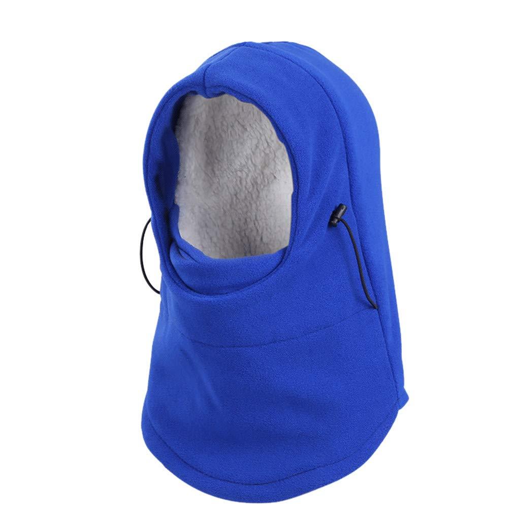 Shybuy Winter Outdoor Sports Ski Snowboard Winter Bicycle Bike Motorcycle Warm Full Face Mask CS Neck Hat Cap (Blue)