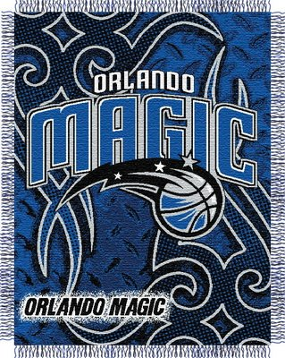 Orlando Magic NBA Triple Woven Jacquard Throw (Tattoo Series) (Woven Triple Layer Tapestry Throw)