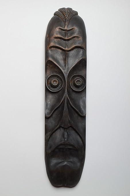 Mascara de madera artesanal para pared colgante tallado