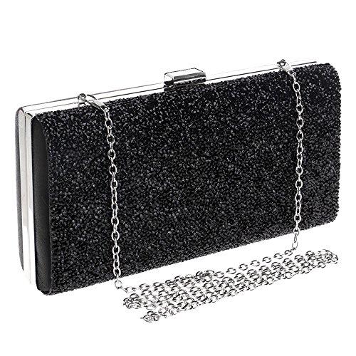 Bag Diamond Dress GROSSARTIG Banquet Bag Black Hand Dress Fashion Lady Dinner Evening xHxOUpf
