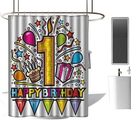 TimBeve cortina de ducha para cuarto de baño 18 cumpleaños ...