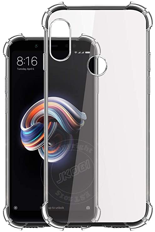 12b3d6530c3 Jkobi® Silicon Flexible with Protective Shock Proof Corner Transparent Back  Case Cover For Xiaomi Mi