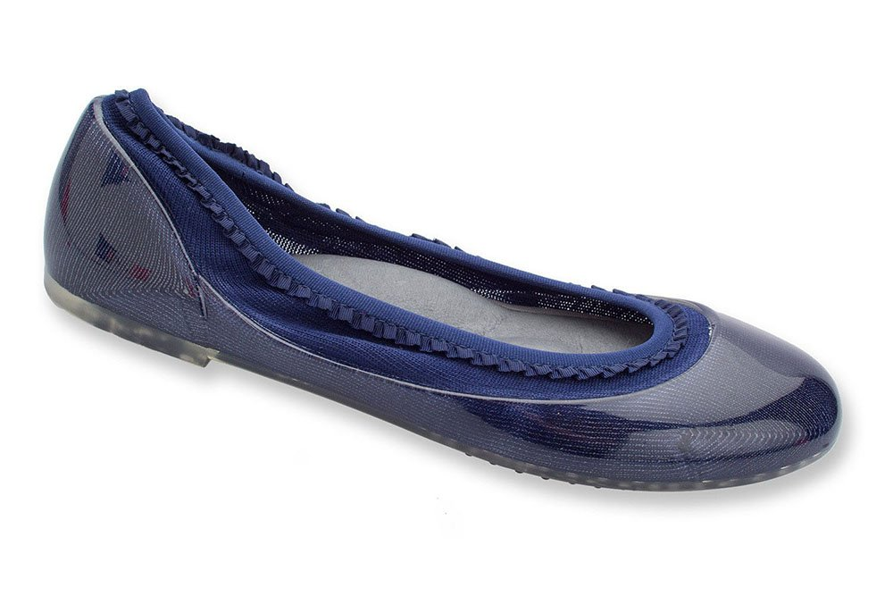JA VIE Shoe Brands for Women Slip On for Every Day Wear Driving and Walking, Navy Ruffle SZ 38