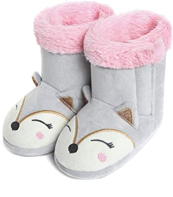 LULEX Boys Girls Bootie Slippers Cute Indoor Home Slippers for Girls and Boys