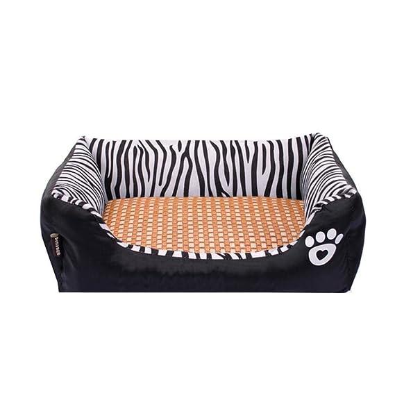 Lozse Camas para Mascotas Cebra sofá Cama Perro Alfombra Franela Gato Perro Nido de Cordero Terciopelo para Perros y Gatos Dormir cojín: Amazon.es: ...